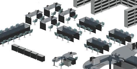 Archivio Ufficio Dwg : Spazi per lufficio 3d ufficio 3d