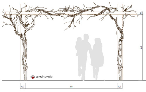 Garden design drawing - Pergole Dwg Pergola Garden Drawings