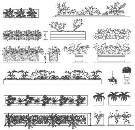 Fioriere e aiuole disegni fioriere dwg for Arredo giardino dwg