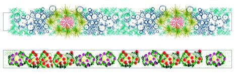 Fioriere e aiuole disegni fioriere dwg 2 for Disegno giardini