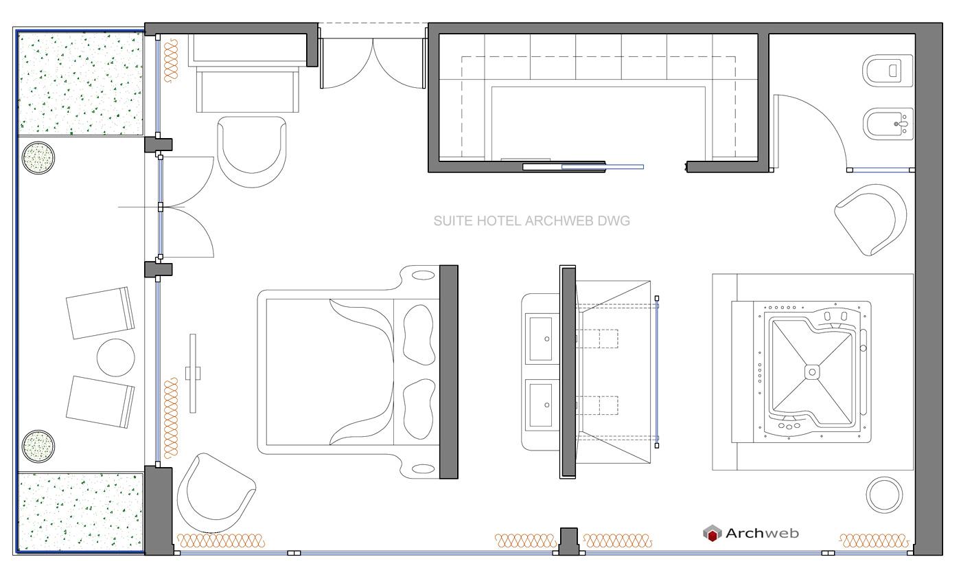 Alberghi hotel for Arredi per autocad