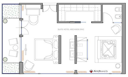 Alberghi hotel - Camera da letto dwg ...