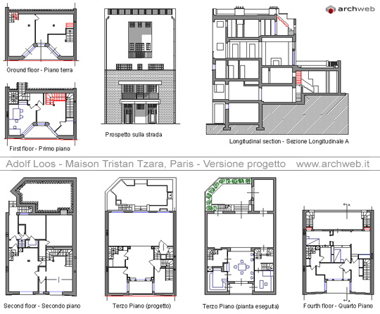 Adolf loos maison tristan tzara for Design architettonico gratuito