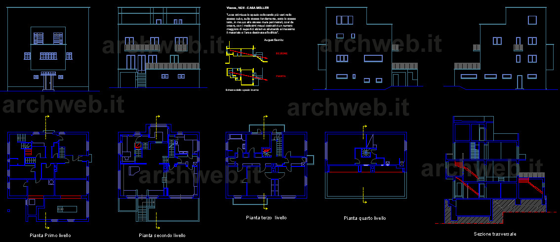 Casa moller dwg for File cad di casa