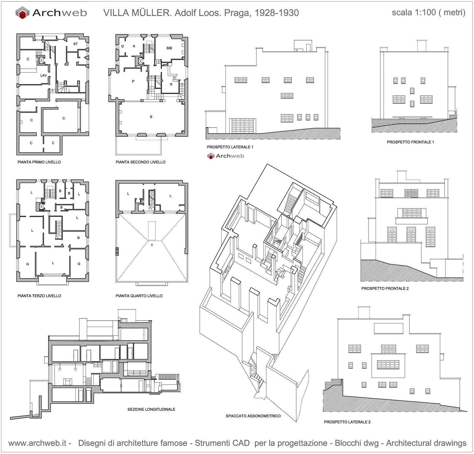Muller_2d_drawings on Villa Savoye Floor Plans