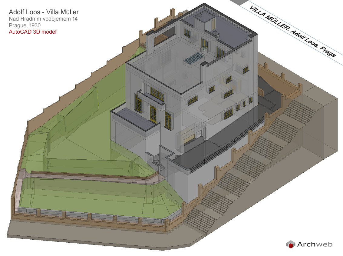 Muller House Autocad 3d