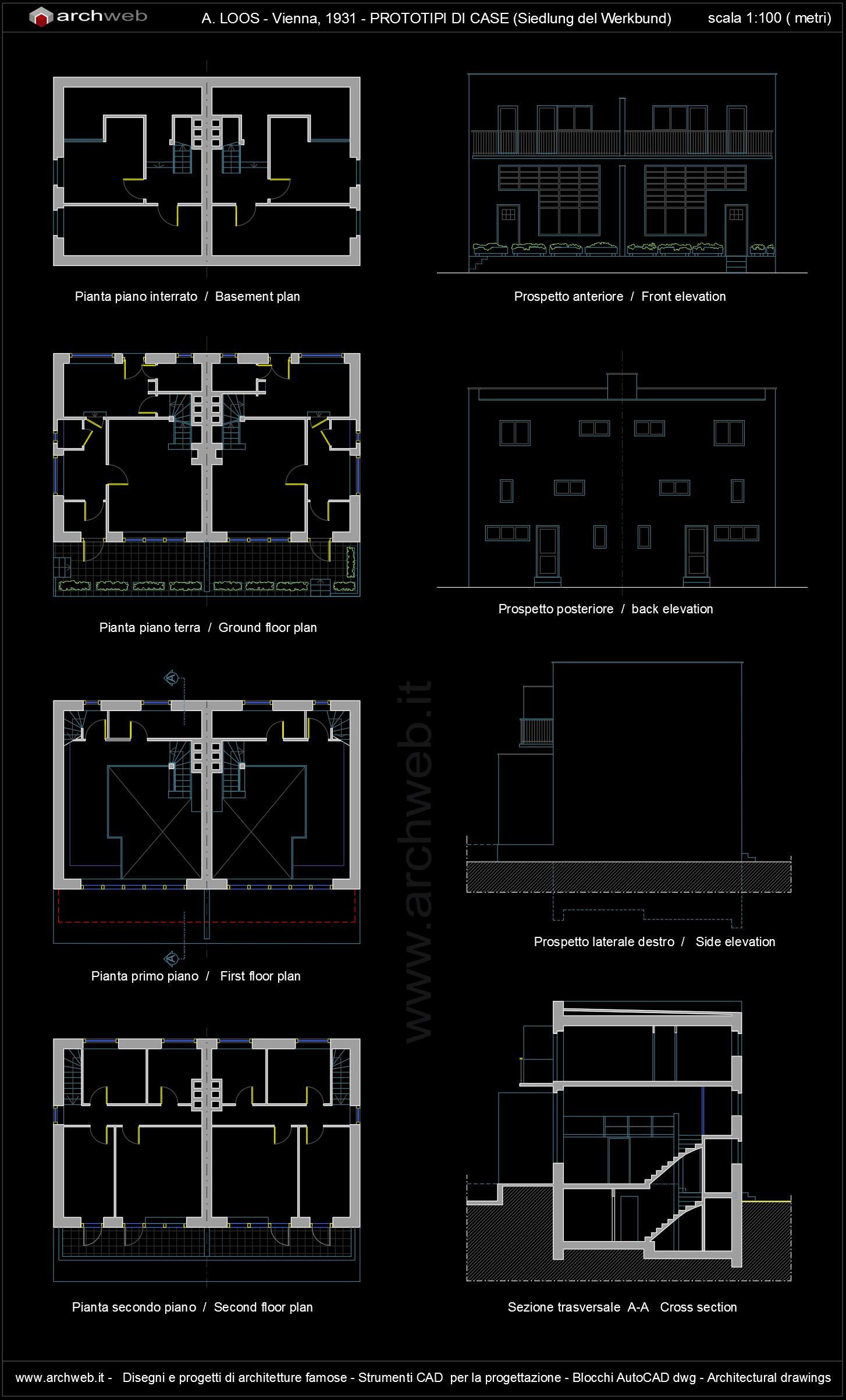Cad House Design Ipad: Werkbund Siedlung House Autocad Plan