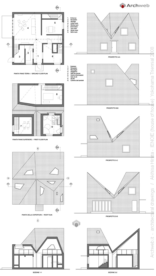 Ienoie 2d house of house akihisa hirata plan for Archweb arredi