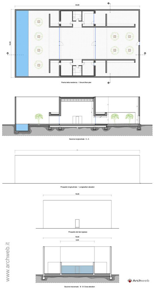 Guerrero house dwg progetto di a campo baeza - Casa guerrero campo baeza ...