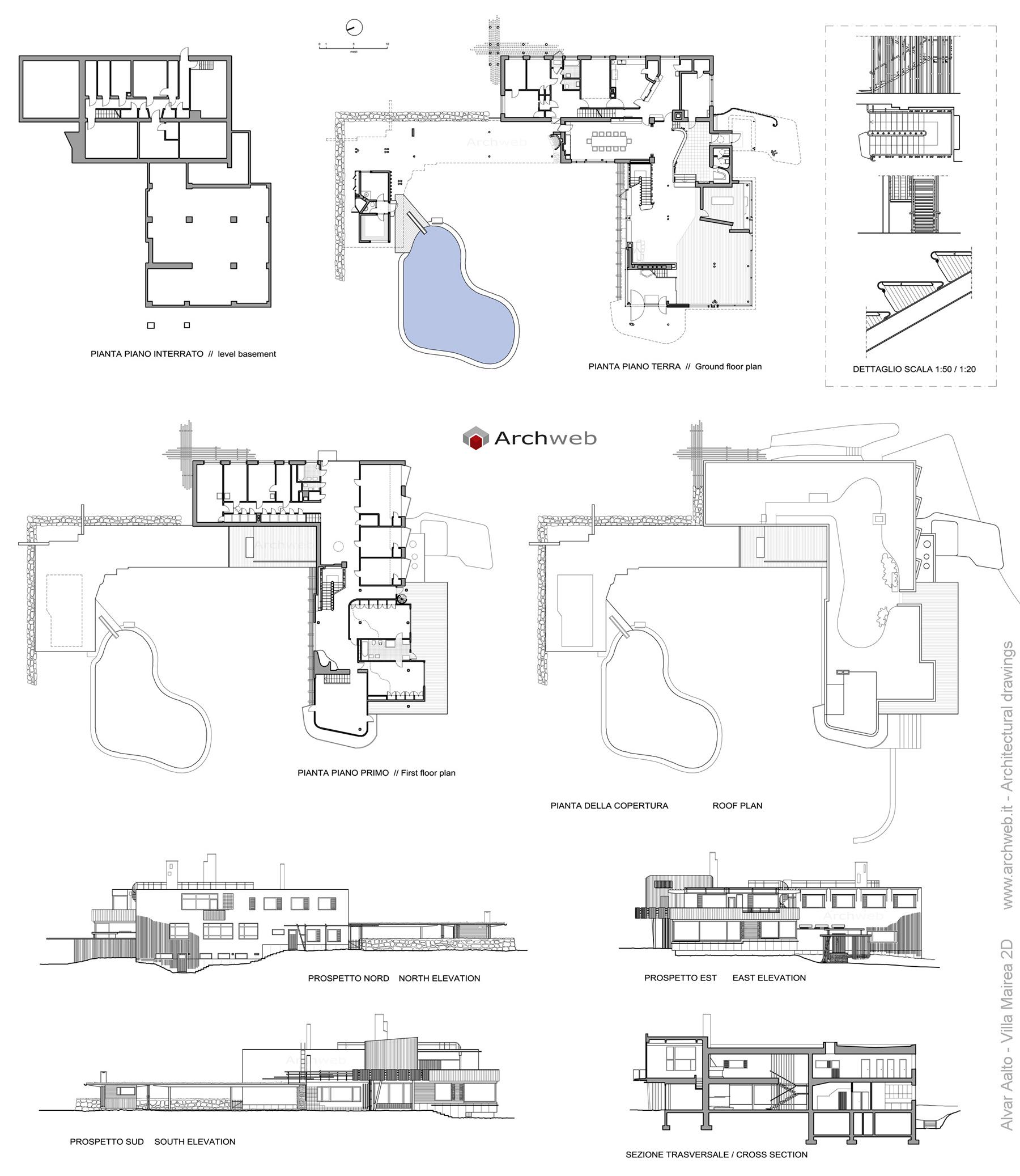 Villa Mairea Plan Drawings