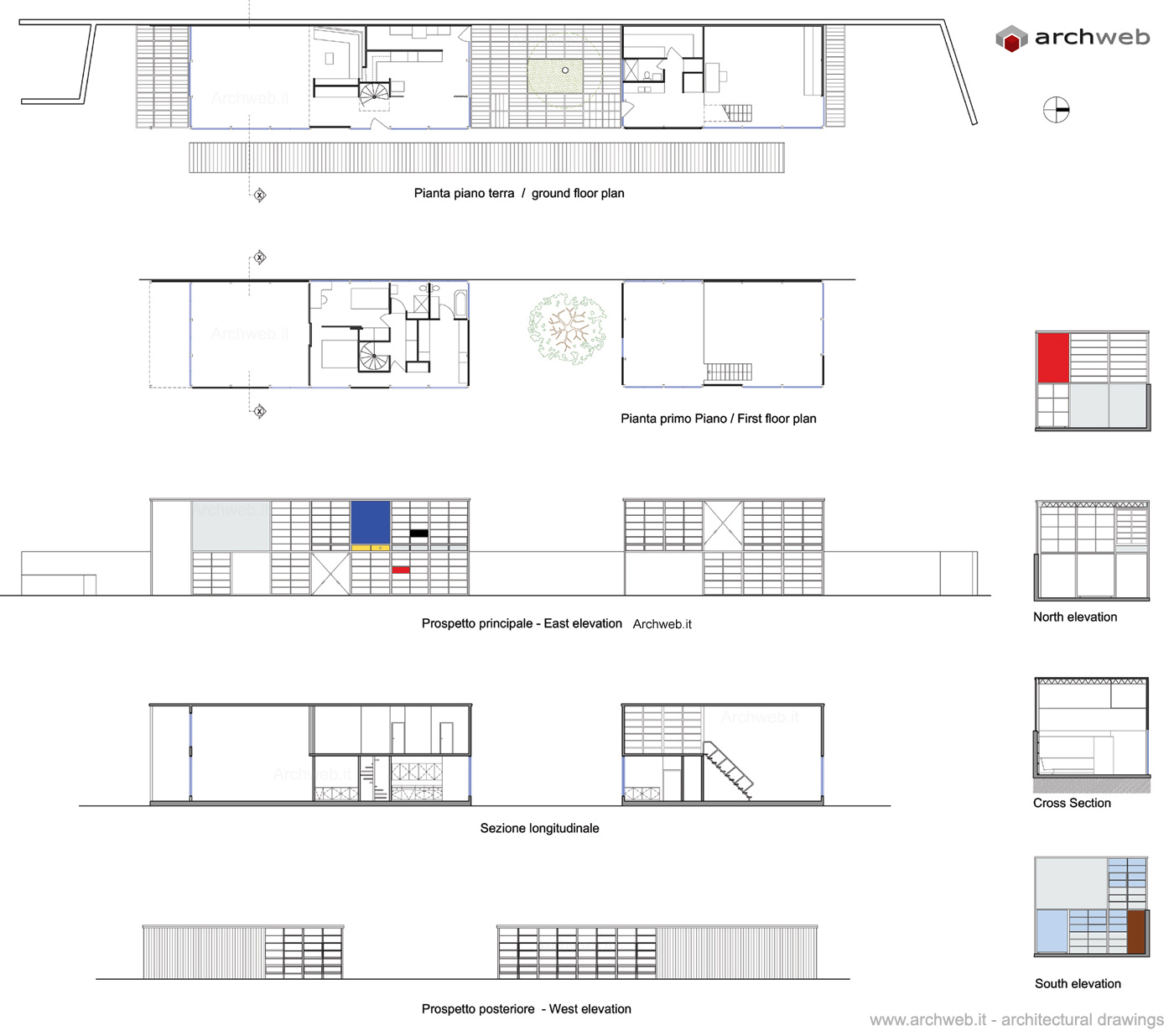 Eames house 2d dwg drawings for Case study house 8 floor plan