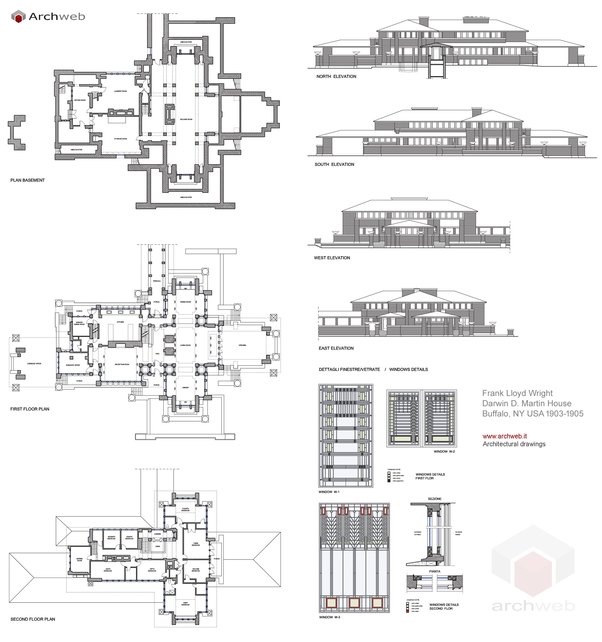 Martin House Plan Drawings