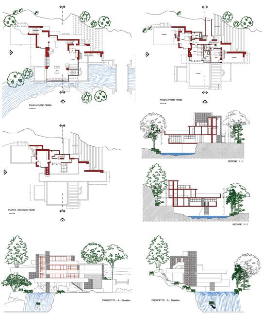 Kaufmann_2d on Frank Lloyd Wright Falling Water House Plans