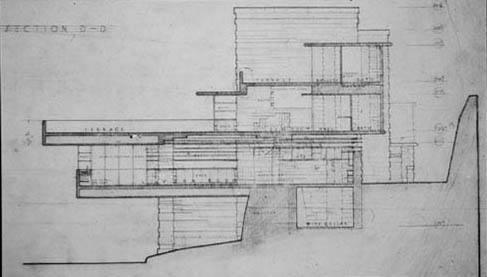 House Plan page ENGLEWOOD 2545 B also Fallingwater La Casa Sulla Cascata Di Frank Lloyd Wright further Autocad 2d House Plans With Elevation in addition Architecture House Plans Elevation together with Floorpln. on falling water floor plan with dimensions
