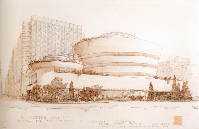 Frank lloyd wright disegni dwg for Architettura wright