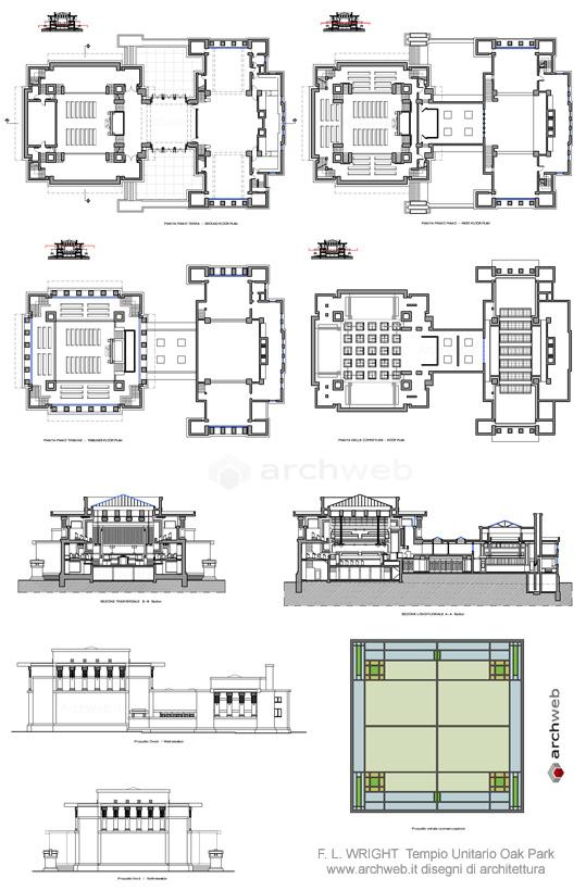 Tempio unitario oak park dwg for Archweb uffici