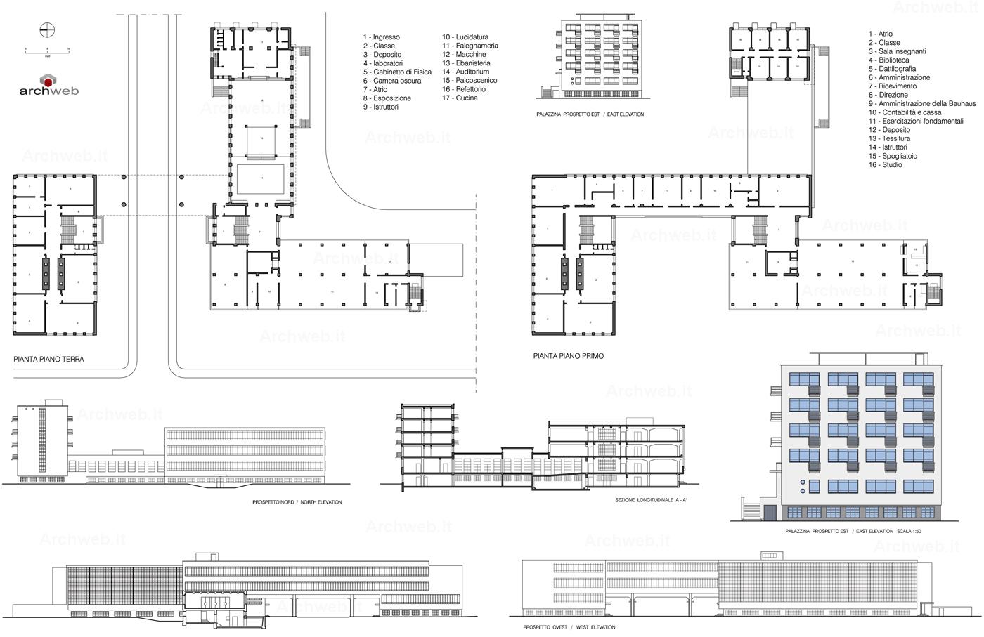 Bauhaus A Dessau 2d Dwg 1919 1925 W Gropius