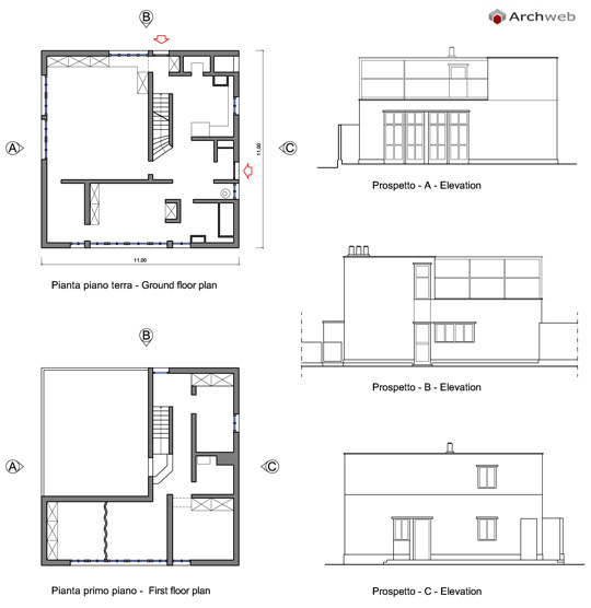 W gropius casa unifamiliare a weissenhof 1927 - Casa unifamiliare dwg ...