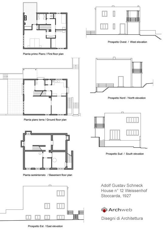 Schneck casa n 12 nel quartiere weissenhof for Archweb arredi