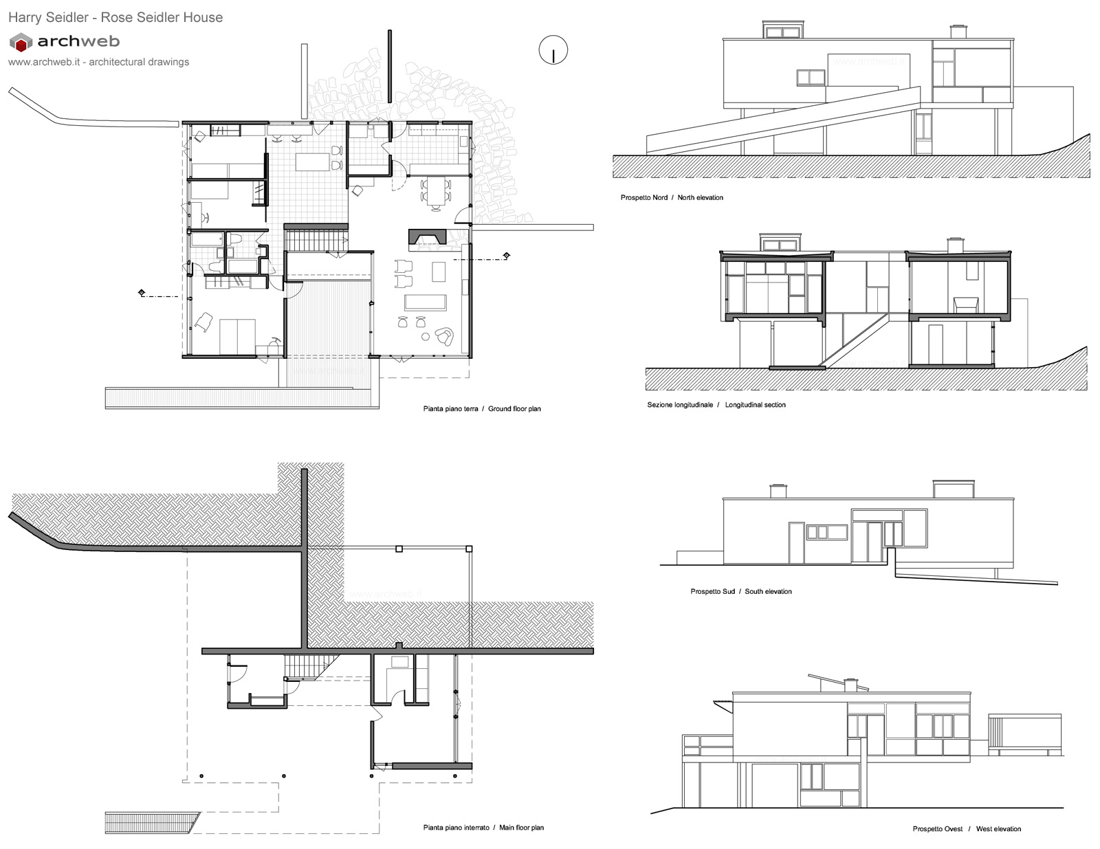 Rose Seidler House plan drawings