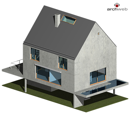 Rudin house 3d model for Archweb arredi