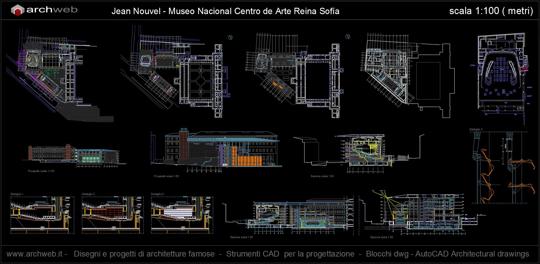 Nouvel ampliamento del museo reina sof a for Arredi dwg gratis