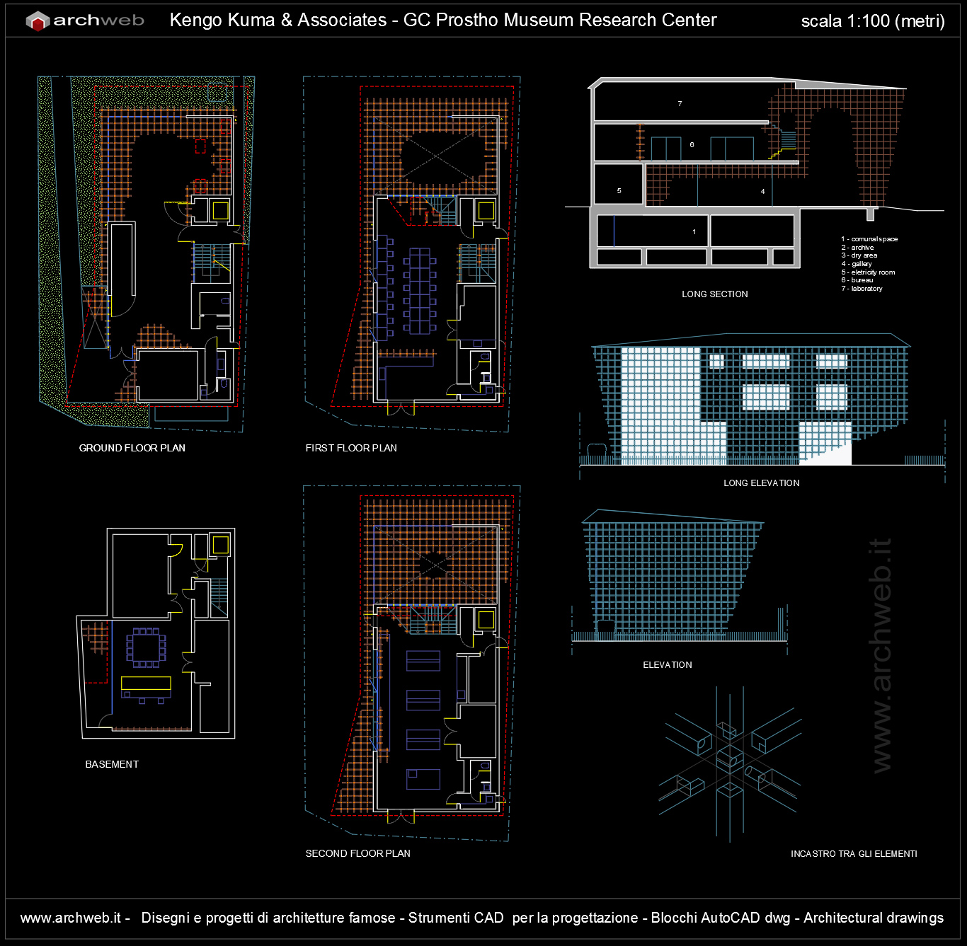Gc prostho museum research center autocad dwg for Autocad arredi