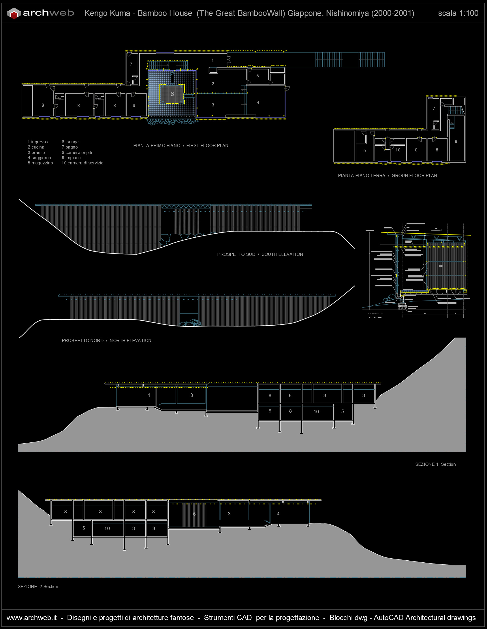 Great Bamboo Wall Autocad dwg