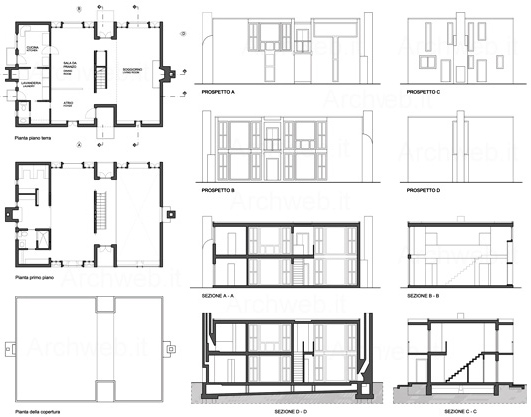 The Gallery For Gt Esherick House Plan Dimensions