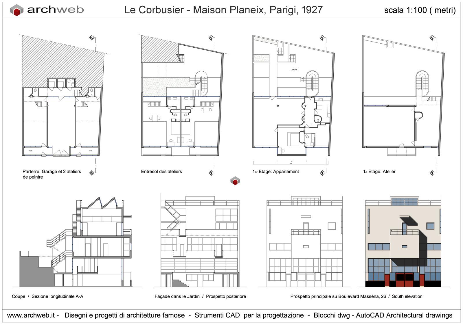 villa le corbusier max min With wonderful photo de plan de maison 0 maison planeix drawings plan