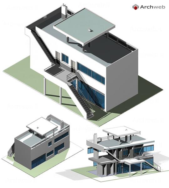 Maison dite vrinat 3d for Villas weissenhofsiedlung
