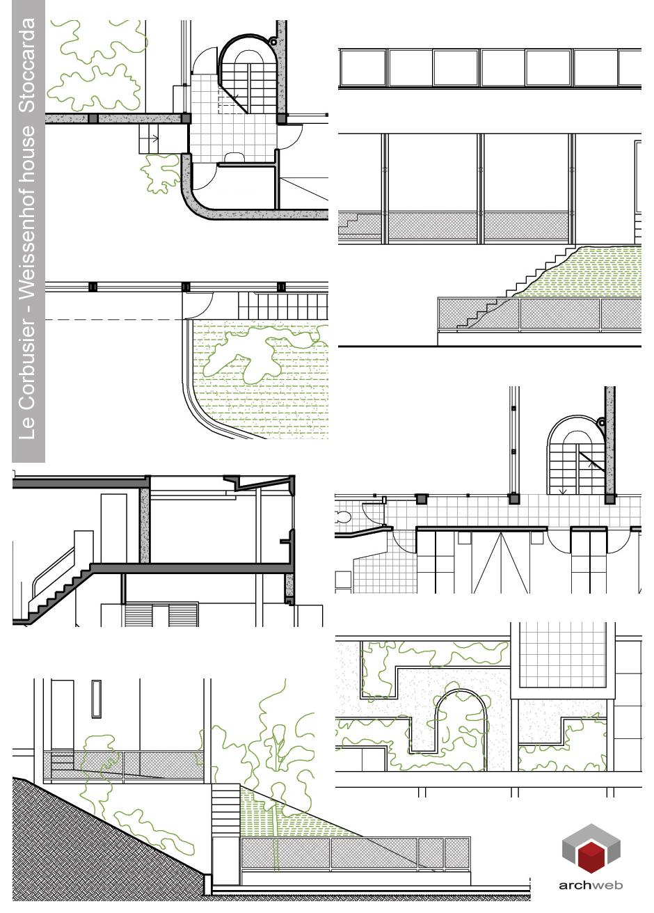 Weissenhof house drawings dwg - Le corbusier casas ...