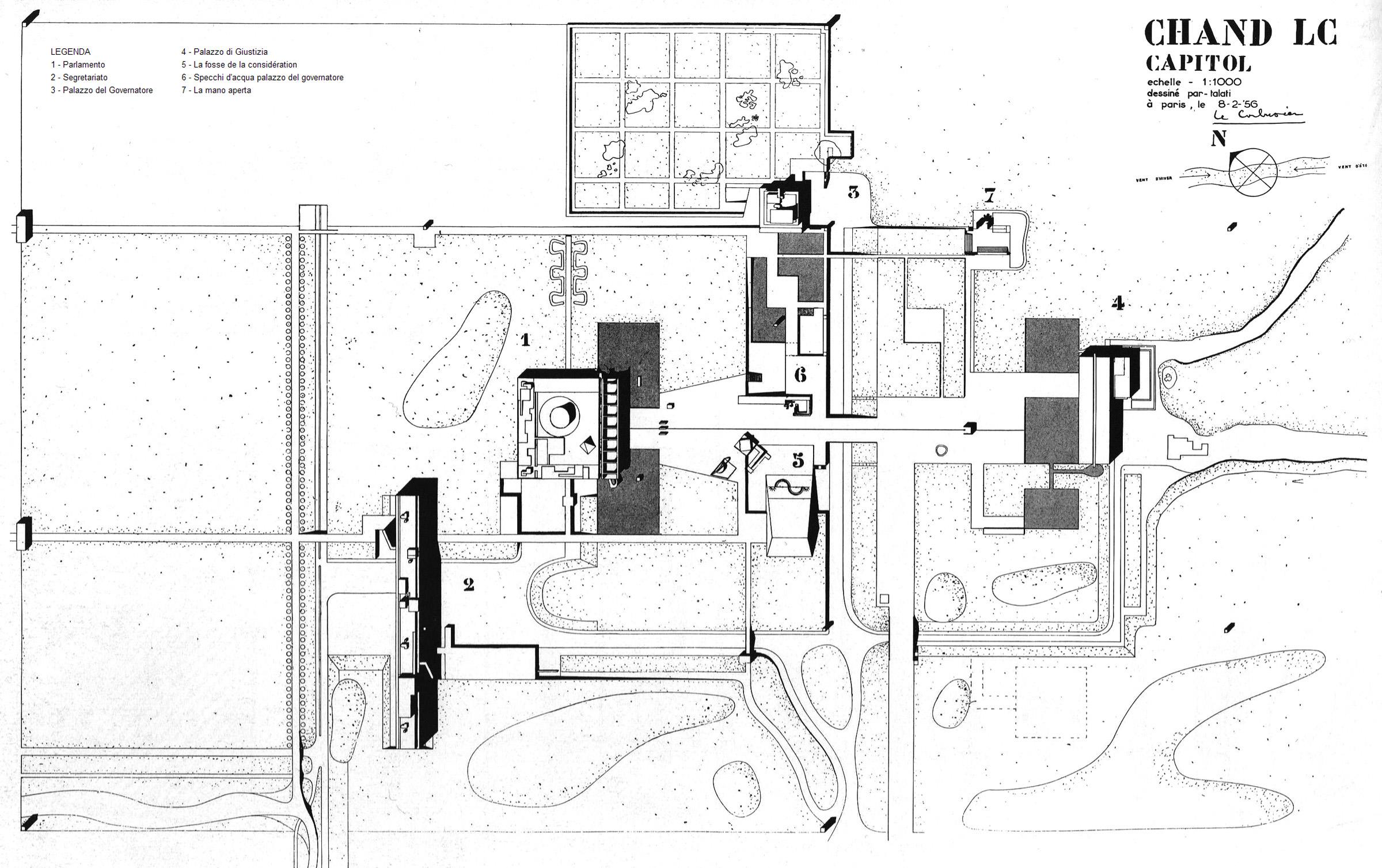 chandigarh di le corbusier progetto urbanistico. Black Bedroom Furniture Sets. Home Design Ideas