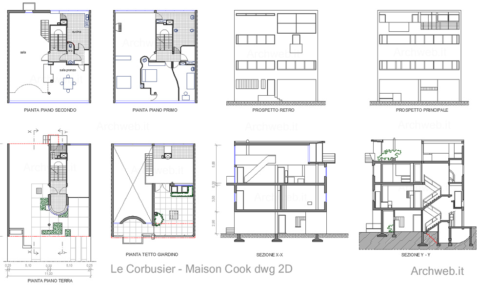 Cook on pinterest le corbusier building and france for Arredi design dwg