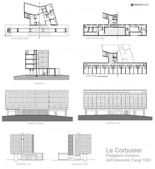 Le corbusier padiglione svizzero dell 39 universit parigi for Costo del padiglione per piede quadrato