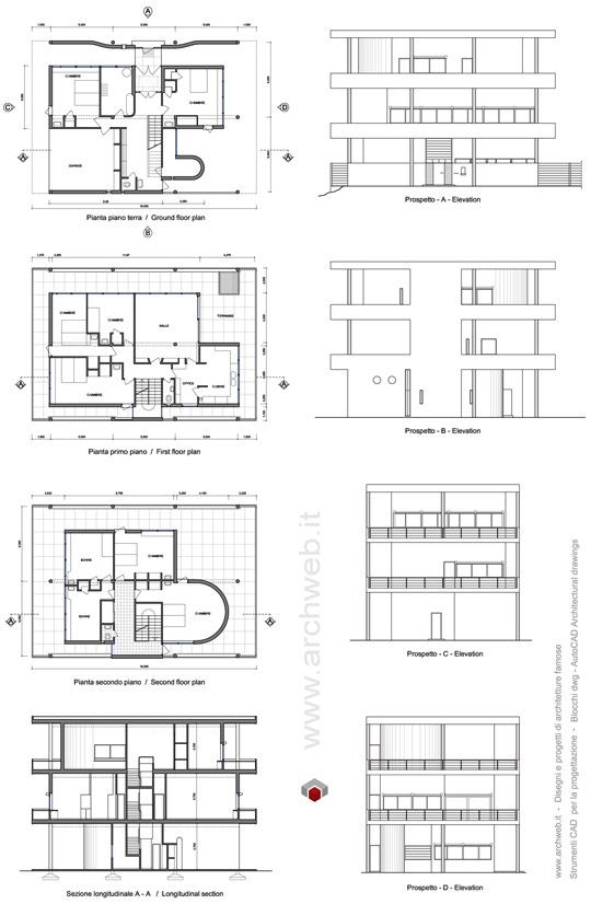 Villa baizeau cartagine 1929 - Le corbusier tetto giardino ...