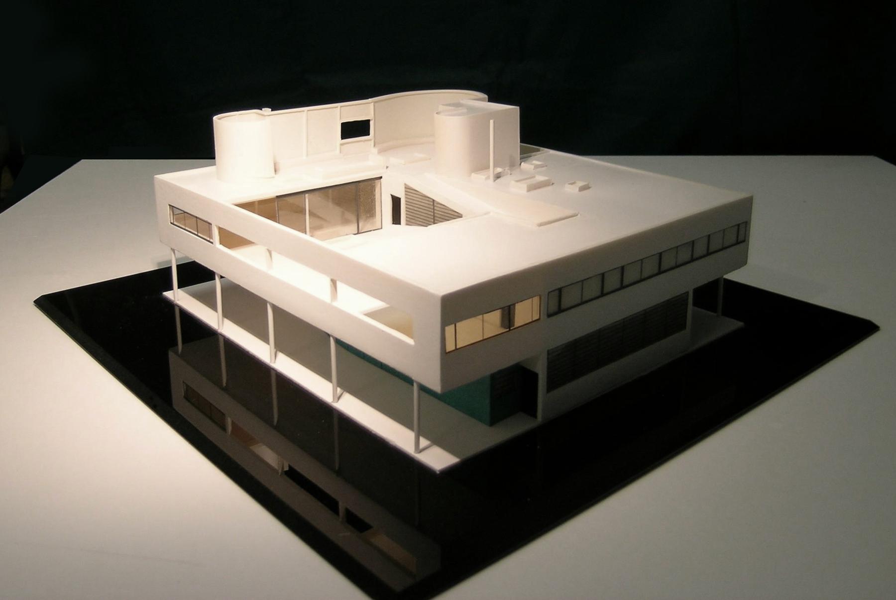 Interni Di Villa Savoye : Villa savoye le corbusier struttura