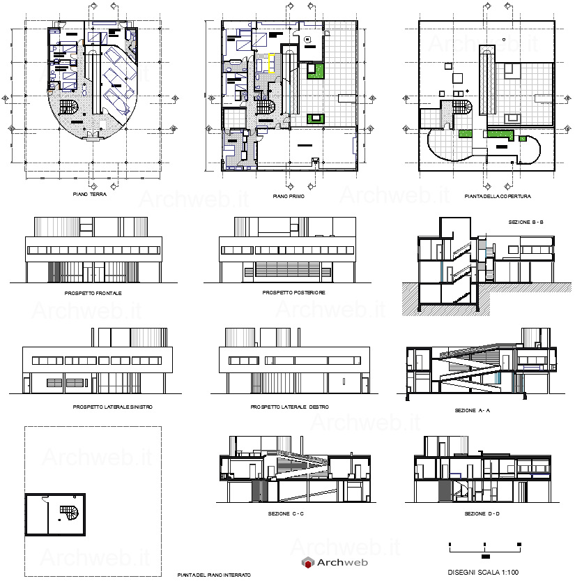 Villas Drawings and Arches on Pinterest - Esherick House Floor Plan