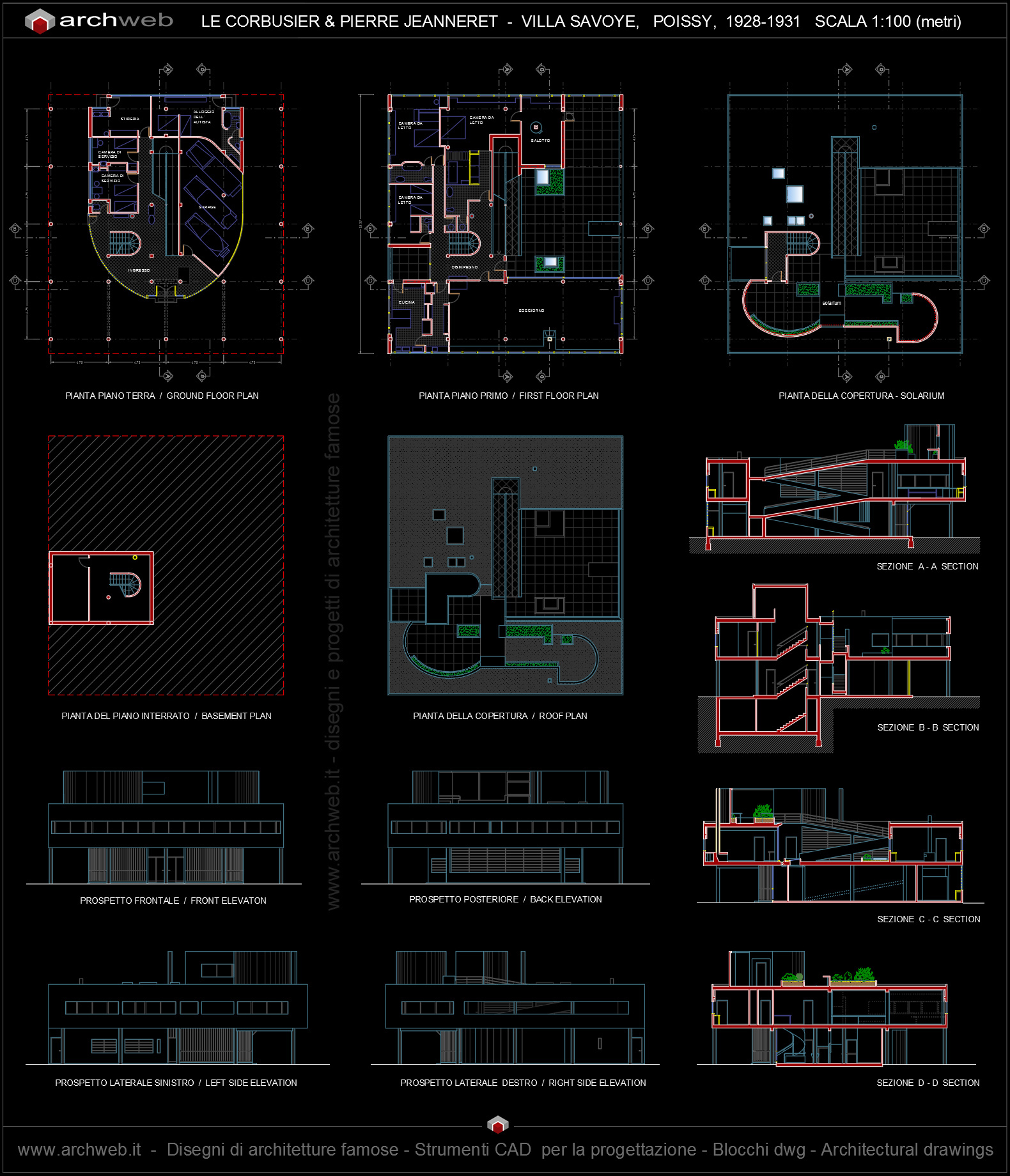 Autocad dwg villa joy studio design gallery best design for Barhocker 2d cad