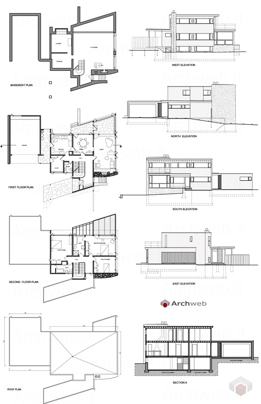 Abele house dwg breuer and gropius projects dwg for Generatore di blueprint gratuito