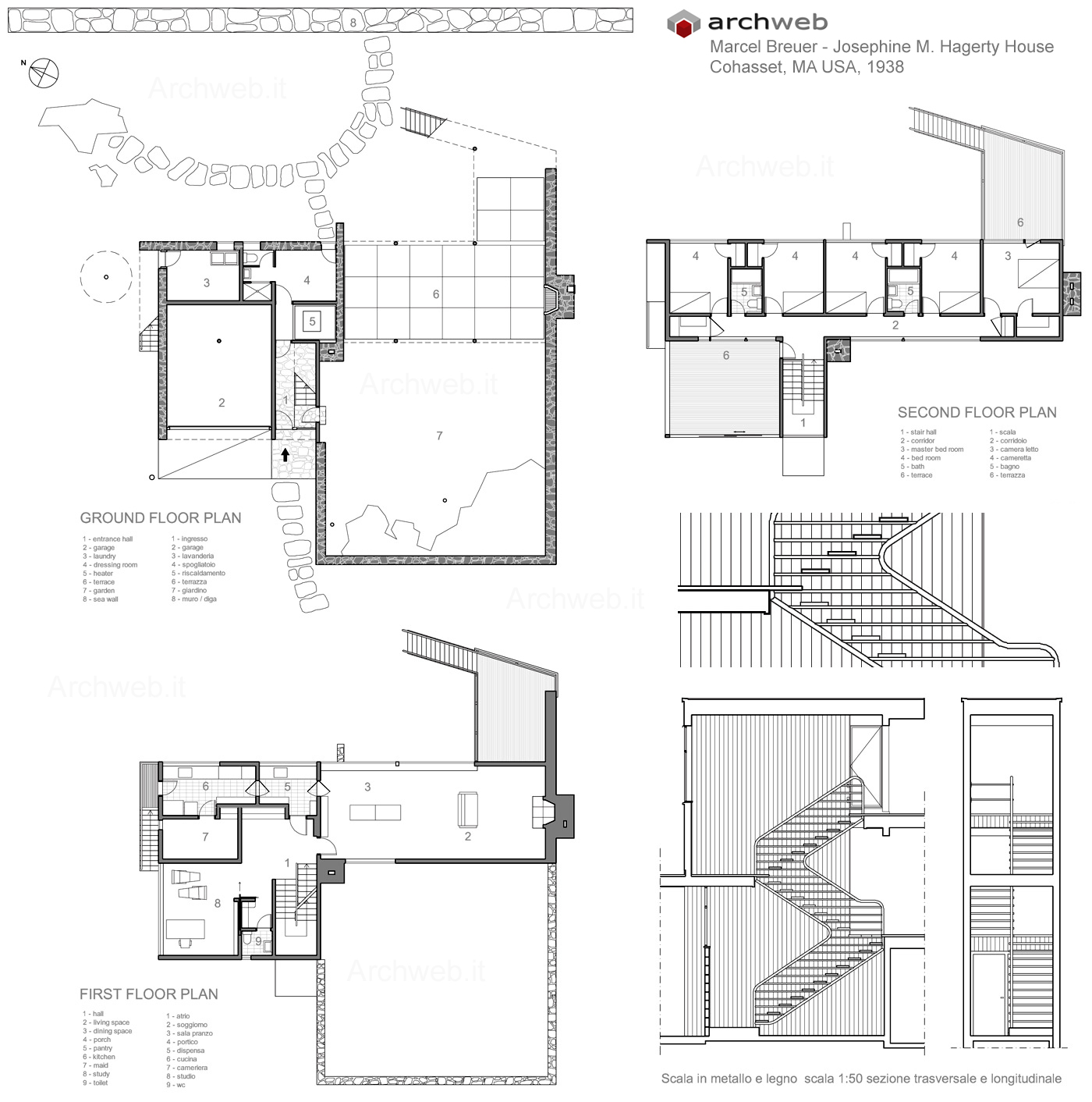 Breuer Hagerty House Drawings Plan