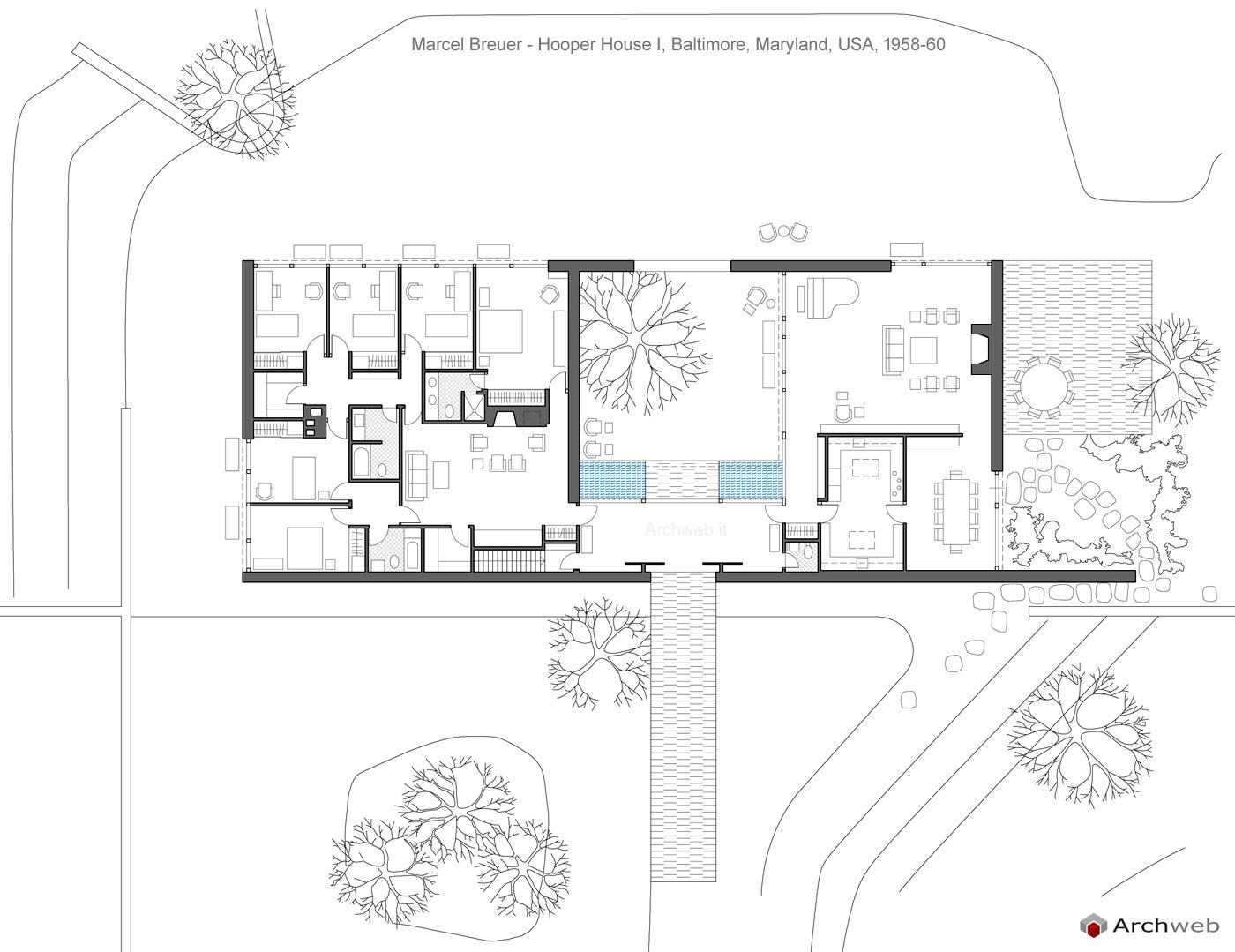 Hooper House I Breuer dwg drawings