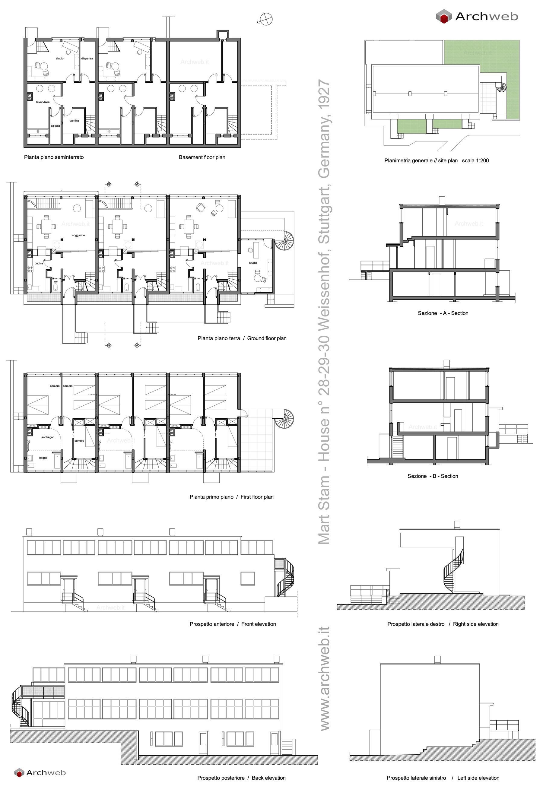 House N 176 28 29 30 Weissenhof Mart Stam Architect