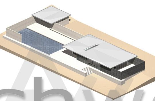Padiglione barcellona del 1929 dwg 3d for Piani di progettazione del padiglione