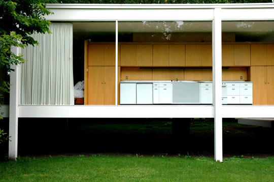 Farnsworth house dwg 2d for Arredi interni dwg