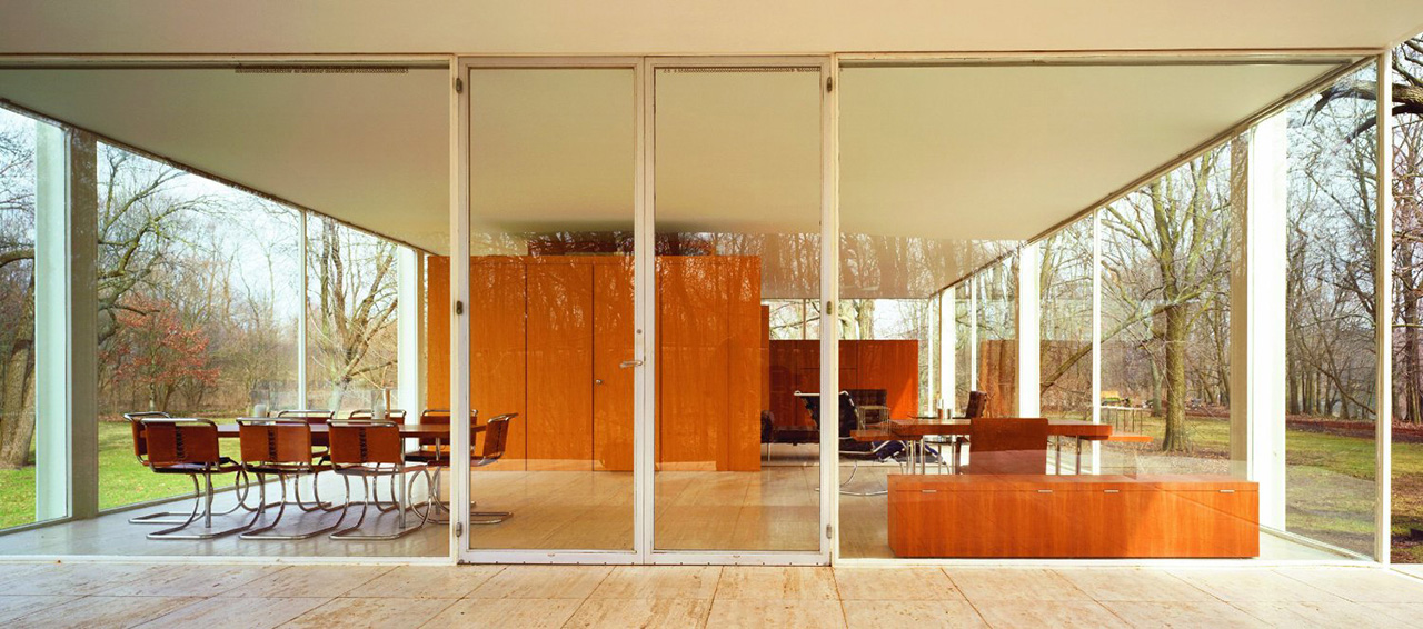 Farnsworth house dwg 2d for Arredi casa dwg