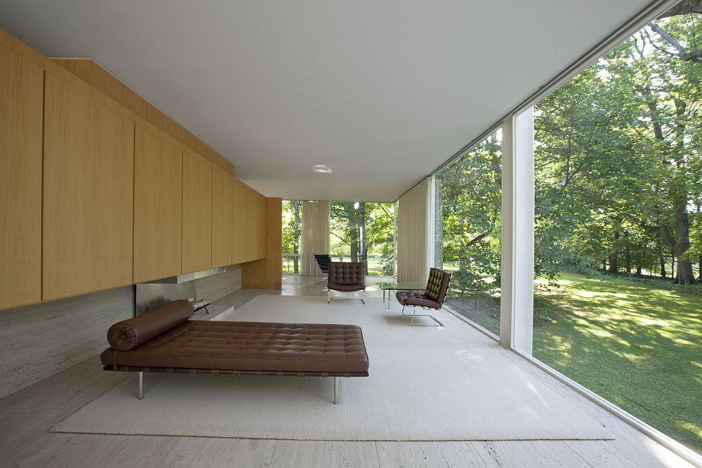 farnsworth house dwg 2d. Black Bedroom Furniture Sets. Home Design Ideas