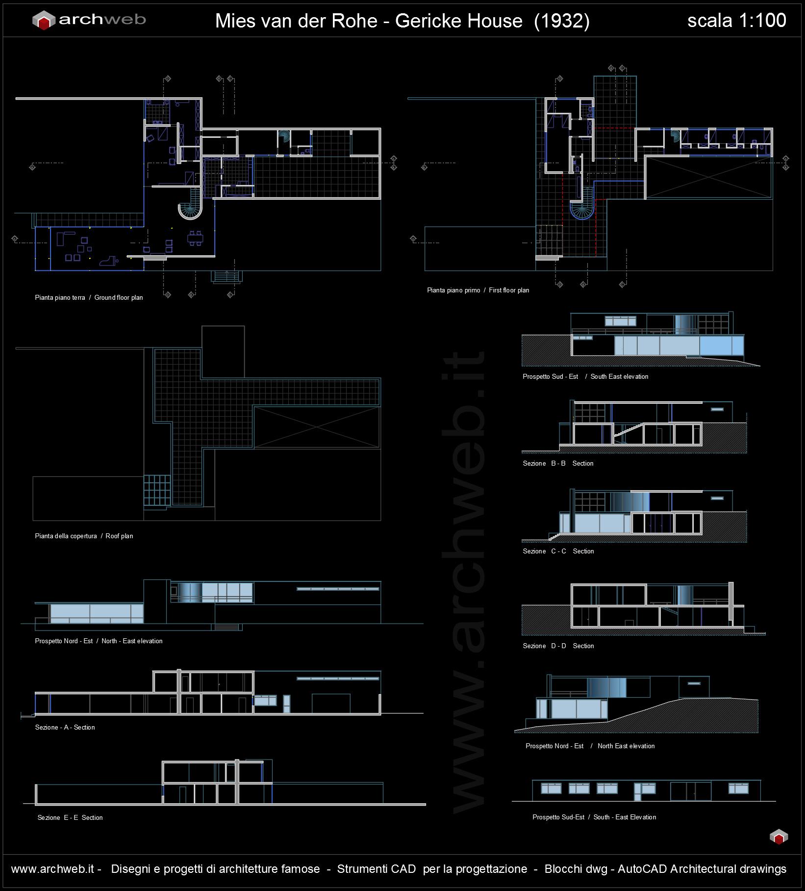 Draw Floor Plans Free Gericke House Autocad Dwg