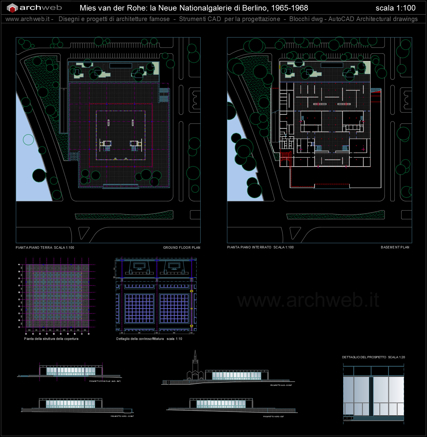 National gallery autocad dwg for Autocad arredi