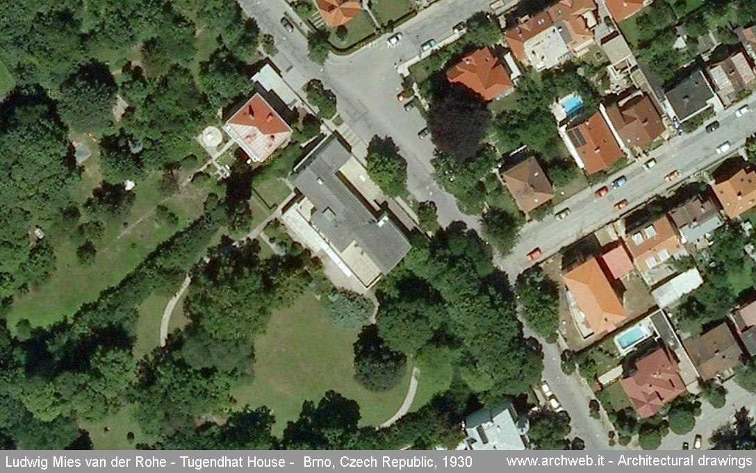 Villa Savoye Floor Plan Dwg >> Tugendhat House aerial photo